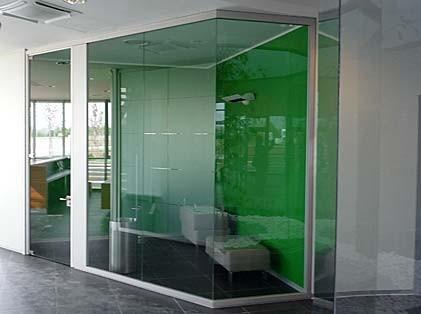 Consulenza arredamento uffici progettazione arredamento - Parete divisoria in vetro ...